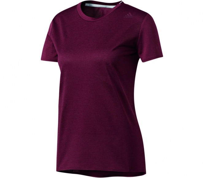 Adidas Supernova Shortsleeve women's running t-shirt (red-brown) XS