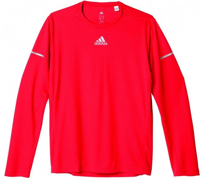 adidas Men's Sequencials Climalite Running Long Sleeve T-Shirt Red XL