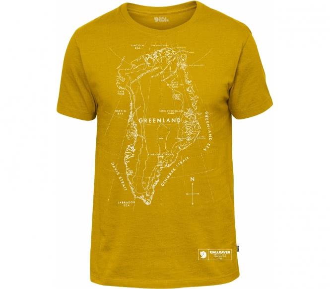 Fjällräven - Greenland Print men's outdoor top (orange) - S