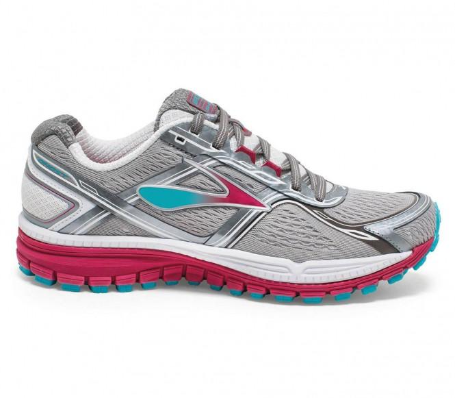 Brooks - Ghost 8 Mujer Zapatos para correr (blanco/rosado)