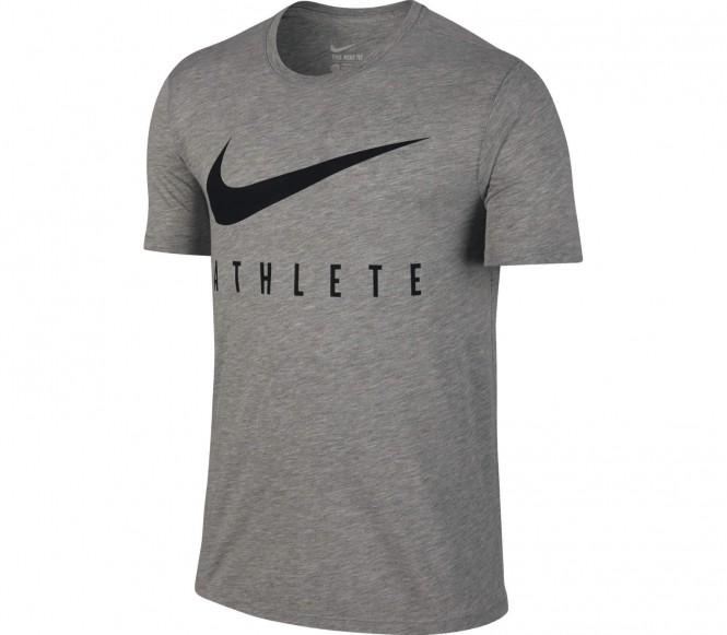 Dri-Fit Swoosh Athlete Herren Trainingsshirt (grau/schwarz) - S