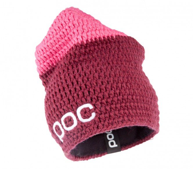 POC - Crochet Beanie (dunkelrot/pink)