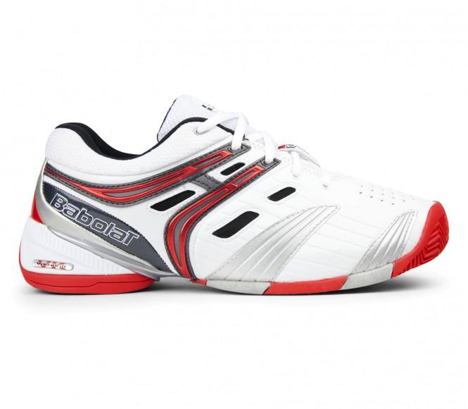 Babolat V Pro Clay herr tennisskor (vit/röd) EU 43 UK 9