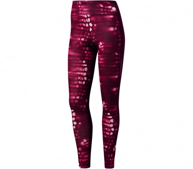 Adidas Supernova Long Print women's running pants (lilac-white) XS