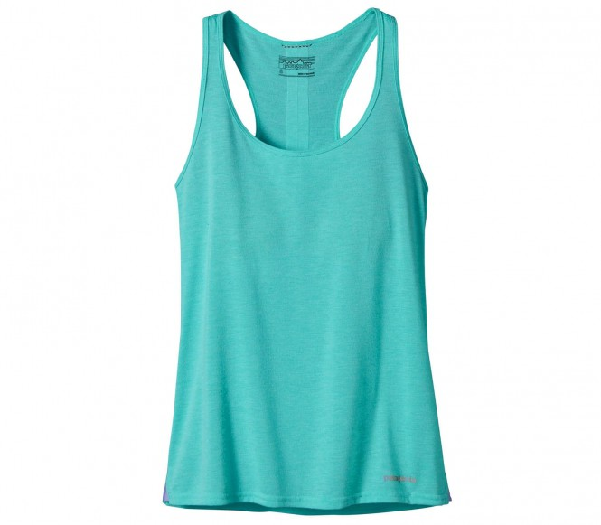 <strong>Patagonia</strong> nine trails tank top fonctionnel pour femmes turquoise s bleu