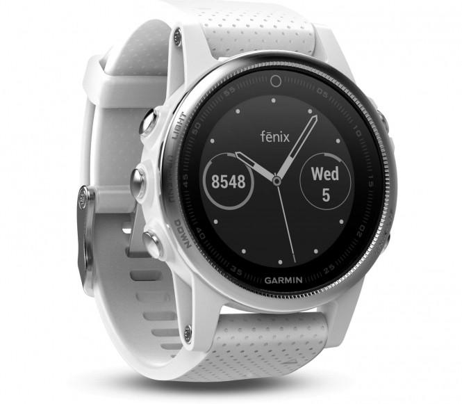 Garmin - fénix 5S Unisex Outdooruhr (weiß/schwarz)