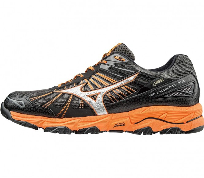 Mizuno – Wave Mujin 3 GTX® men's running shoes (dark grey/orange) – EU 44 – UK 9,5