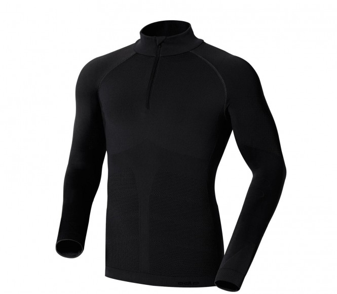 Odlo Men Shirt LS 1/2 Zip Evolution Warm Black (XL)