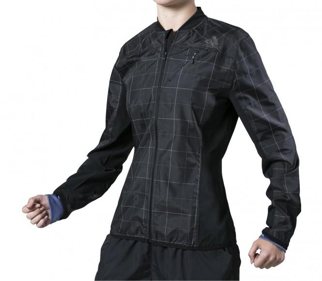 Adidas Hardloopjack Dames SMT 34 zwart