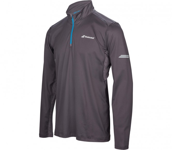 Babolat - Core 1/2 Hommes Funktionszipshirt (gris) - S
