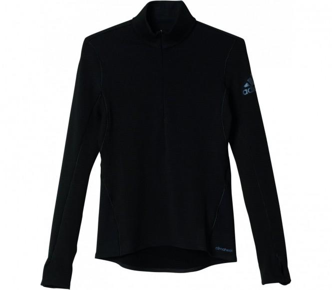 Climaheat Zip Damen Laufshirt (schwarz) - S