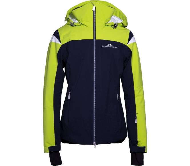 J.lindeberg sitkin jl 2l veste de ski pour femmes bleu foncévert clair xs