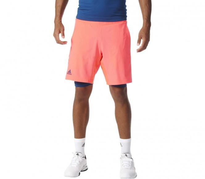 Adidas Multifaceted Pro Bermuda Heren Tennis korte broek (rood-zwart ) M