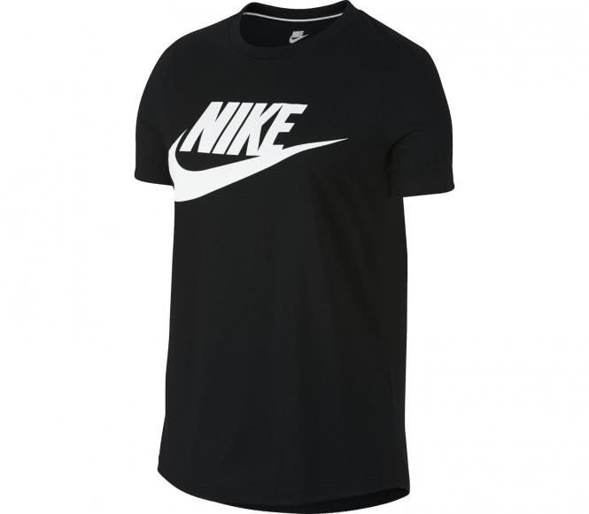 Nike - Essential Hybrid Damen T-Shirt (schwarz/weiß) - L
