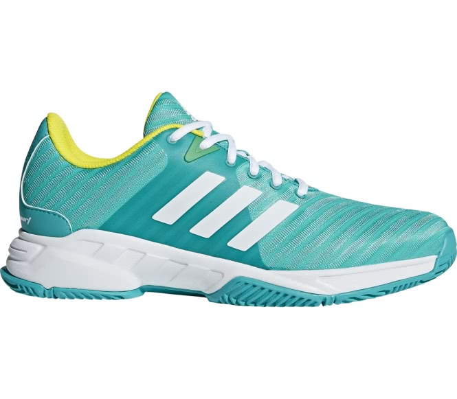 sale retailer 18b6f 4a793 ... clearance adidas performance barricade court 3 mens tennis shoes  turquoise eu 40 2 3 uk 7