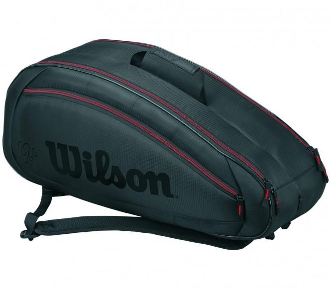 Fed Team 6 Pack Tennistasche (grau/schwarz)
