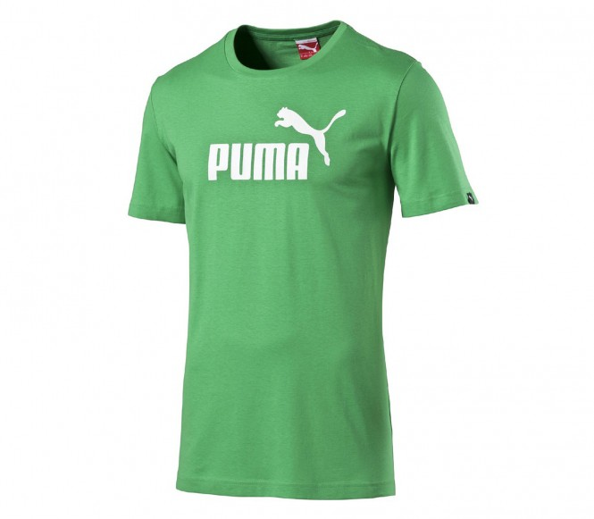 Puma Essential No.1 Logo Herr Träningsshirt (grön/vit) L