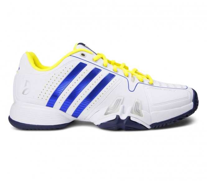 adidas Performance NOVAK PRO Gravel tennisschoenen white/collegiate royal/bright yellow