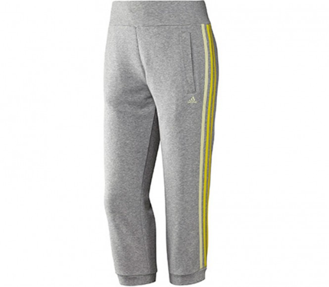 Adidas Fitness- en Trainingsbroek Heren Essential 3 Stripes Seasonal Capri XS grijs