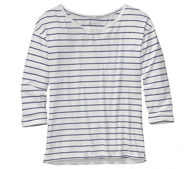 <strong>Patagonia</strong> shallow seas femmes chemise extérieure blancbleu s