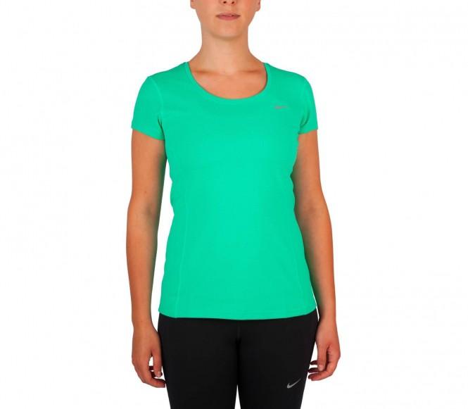 Nike - Dri-Fit Contour Shortsleeve Damen Laufshirt - S zilver