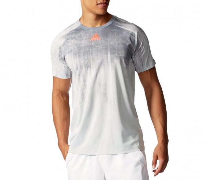 Adidas - Adizero Maglietta tennis da uomo (grigio) - S