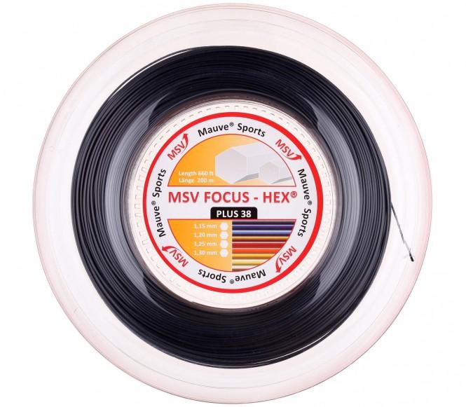 cordages de tennis - MSV FOCUS HEX PLUS 38  200M  1,30MM  NOIR