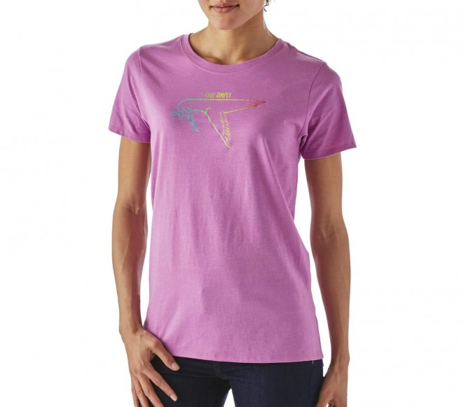 <strong>Patagonia</strong> live simply dove crew femmes chemise extérieure pourpre xs lila