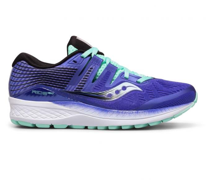 Saucony - Ride Iso Femmes chaussure de course (pourpre/turquoise) - EU 39 - UK 8 violet