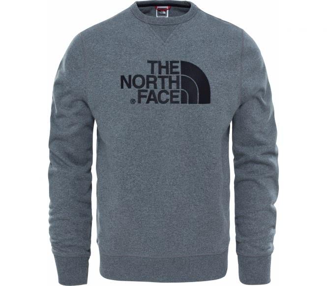 The north face drew peak crew hommes sweat chemise gris l