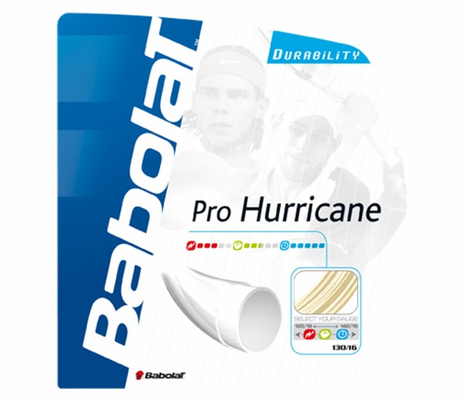 cordages de tennis - BABOLAT PRO HURRICANE 12M 1,20MM