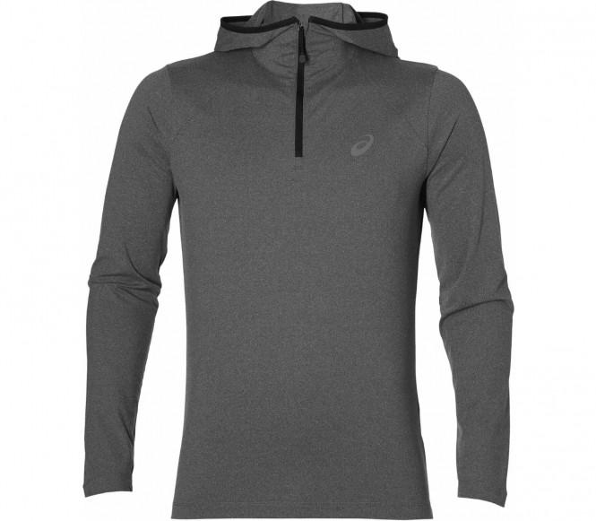 Asics - Longsleeve sweat à capuche de running pour hommes (gris) - L