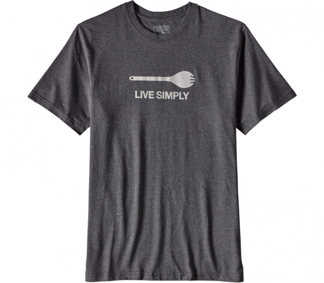 <strong>Patagonia</strong> live simply spork responsibility t shirt logo pour hommes noirvert xl 36