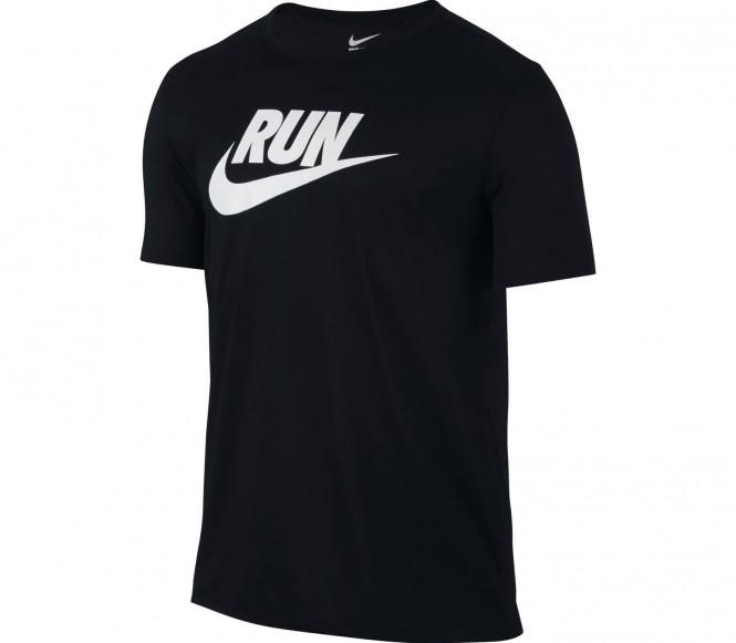 Run P Swoosh Brand RD Herren Laufshirt (schwarz) - XL