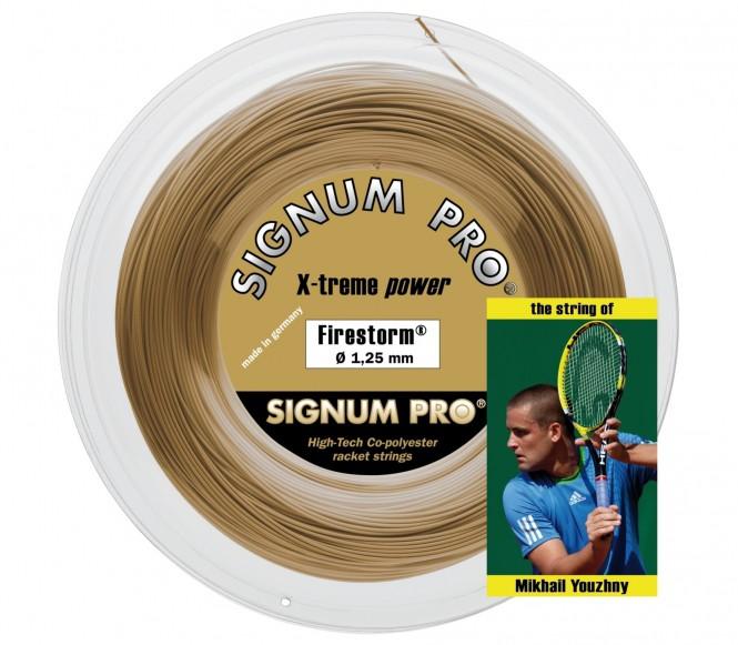 cordages de tennis - SIGNUM PRO FIRESTORM 100M 1,30MM