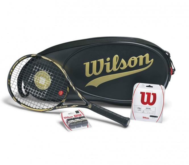 Wilson Juice 100S (uppträdda) tennisrack 100 Jahre Edition Package L3 (4 3/8)