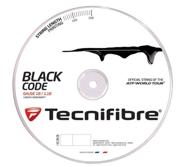 cordages de tennis - TECNIFIBRE BLACK CODE 200M 1,18 MM