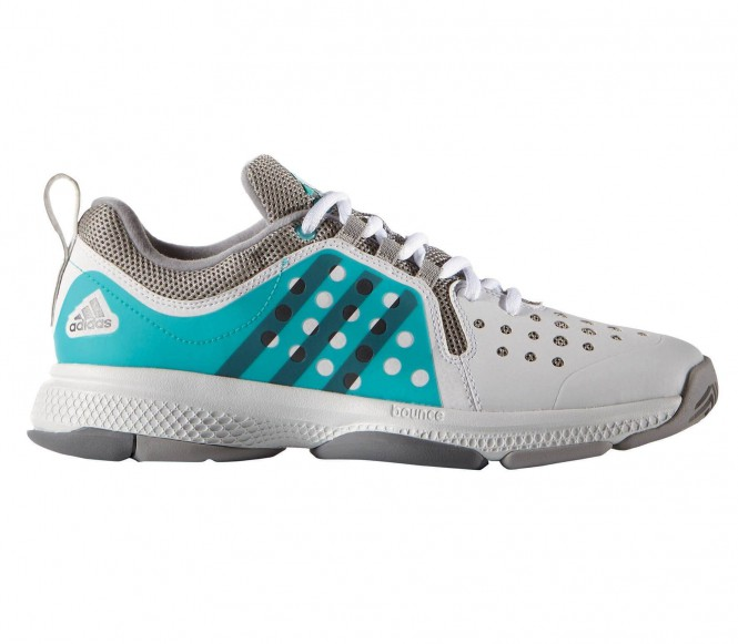 adidas Performance BARRICADE CLASSIC BOUNCE Gravel tennisschoenen white/night metallic/shock green