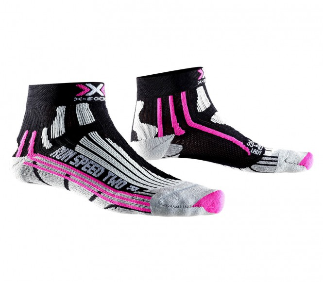 X-Bionic - Speed Two Damen Laufsocken (schwarz/...
