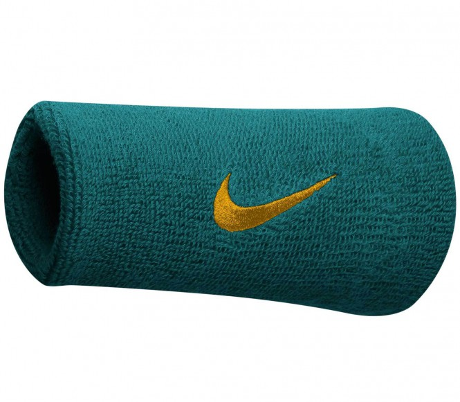 Nike - Swoosh Doublewide Wristbands (grün)