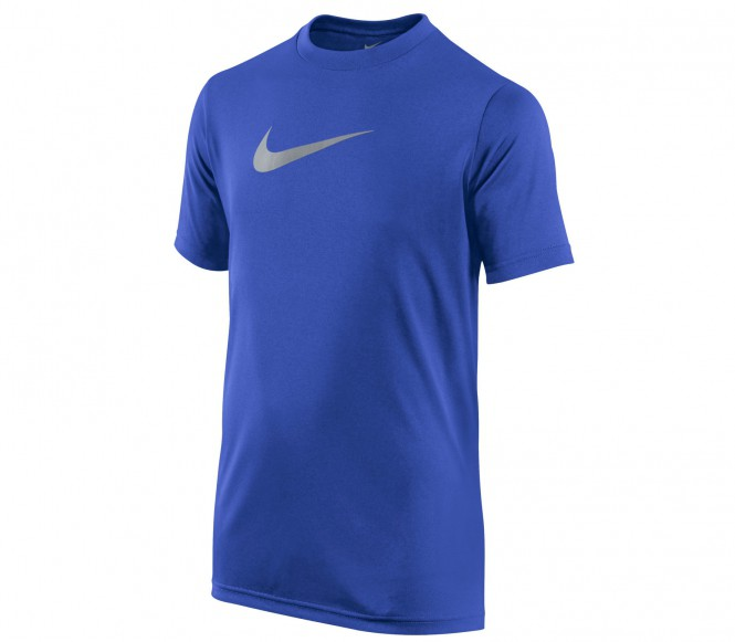 Nike - Legend Shortsleeve Top Junior Trainingsshirt - XS blauw