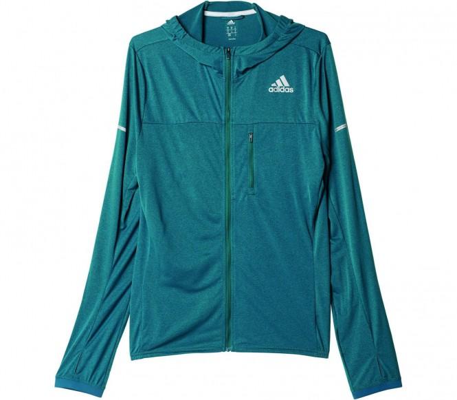 Adidas stretch veste de running pour hommes vert foncé l