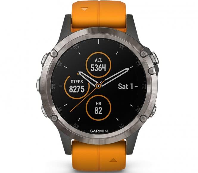 Garmin - Fenix 5 Plus Saphir Edition Multisport...