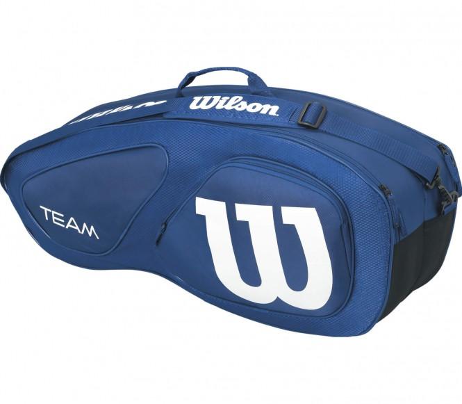 Team II 6 Pack Tennistasche (blau/weiß)
