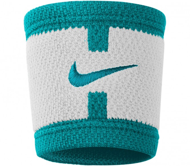 Nike - Dri-Fit Court Logo Wristbands (weiß/grün)