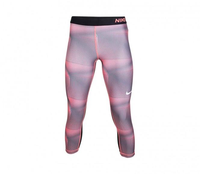 Nike - Pro Cool Pyramid Damen Caprihose (rot/we...