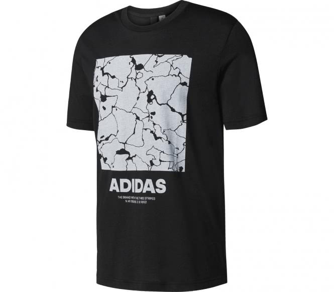 Adidas structure t shirt de training pour hommes noirblanc l