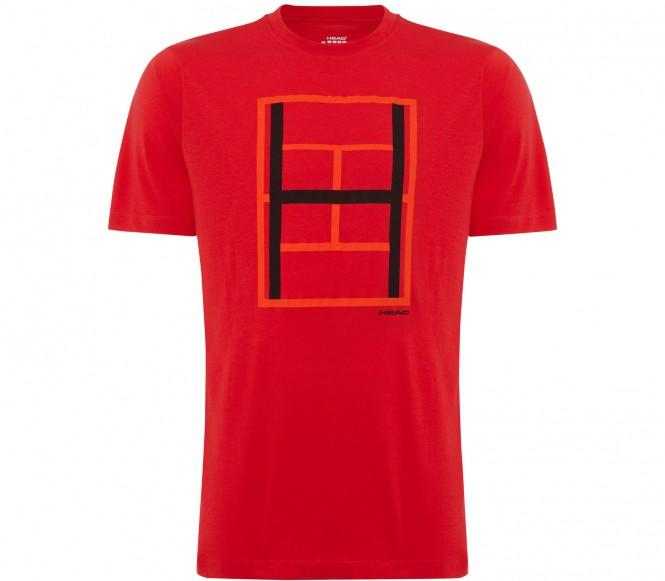 Head Race herr tennisskjorta (röd) S