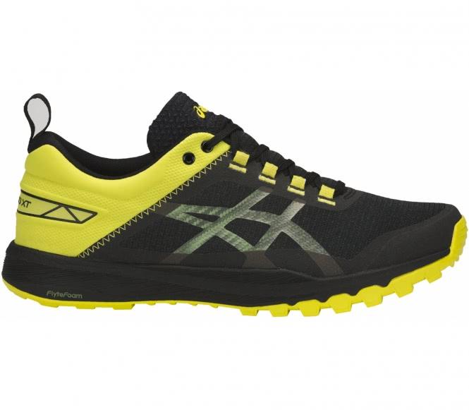 Asics gecko xt chaussures de running pour hommes noirjaune