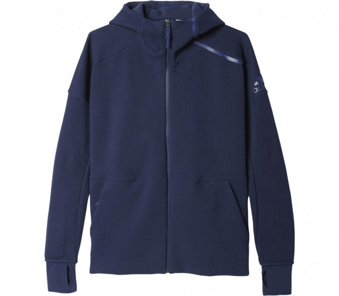 Adidas Z.N.E. Full-Zip Heren Trainingscapuchon (donkerblauw) L